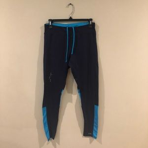 Champions Duo Dry leggings navy blue and sky blue